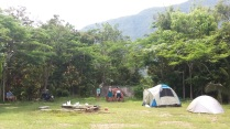 The campsite at Khao Men Resort