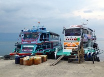 Ferries prepare to make the trip to the island