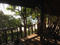 The deck of our bungalow at Jansom
