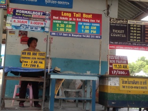 Ferry times at Phayam Pier