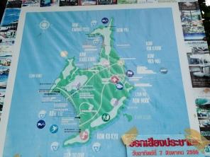 Map of Koh Phayam at the Koh Phayam Pier