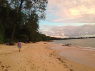 Dusk colours Ao Khwai beach
