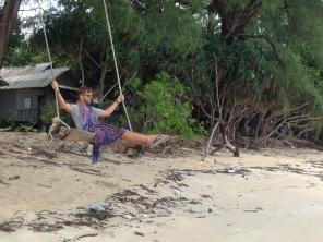 Swinging over Ao Yai