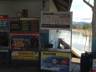 Ferry times at Phayam Pier.