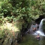 Morning waterfall recharge